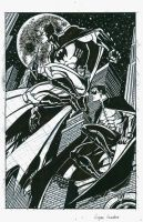 batman and robin inks by Logant