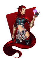 Rosso the Crimson by RobasArel