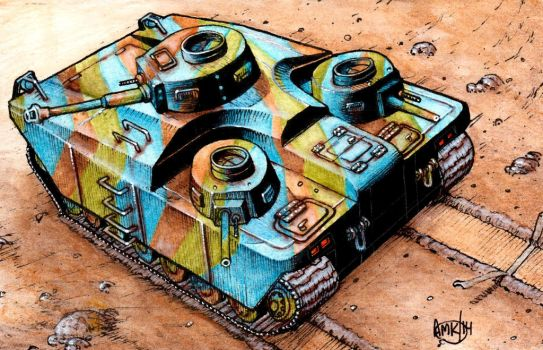Fictional WWII Tank by Frohickey