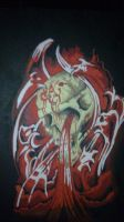 Bleeding Skull by bodz2010