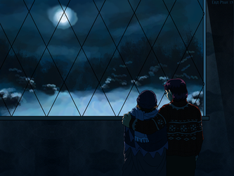 Wallpaper - Your world is colder than mine by ErinPtah