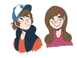 Dipper and Mabel by ScotiaNeep