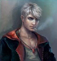 Dante white hair by oO-NairaIvory-Oo