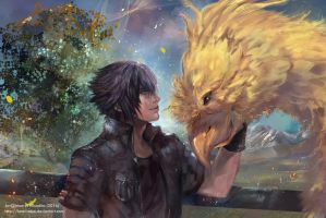 Noctis and Chocobo by Innervalue