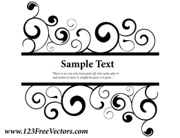 Vector Ornate Swirl Banner by 123freevectors