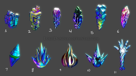 Crystal Core Knowledge Crystal Color Concepts 1 by LordDonovan