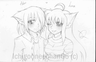 Raara and Adam by Ichigooneechan66
