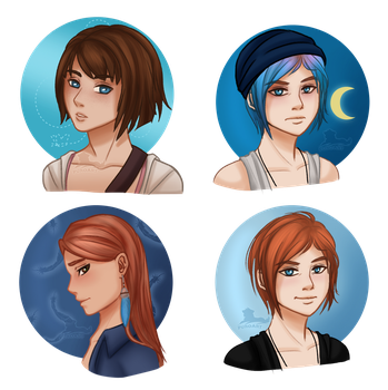 Random colored sketches - Life Is Strange by PuroArt