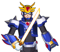 The Blue Knight (MMX:U49) by IrregularSaturn