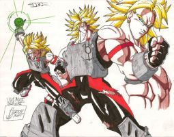 broly in armor by DannyZer0