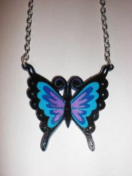 Butterfly Paper Pendant by Bunnygirl2190