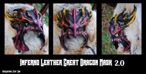 Inferno Great Dragon Mask 2.0 by Epic-Leather