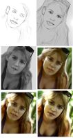 Photo real illustration exercise-stages. by chrisscalf