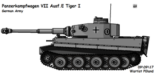 Panzerkampfwagen VI Ausf. E Tiger I (Early) by P0landWW2
