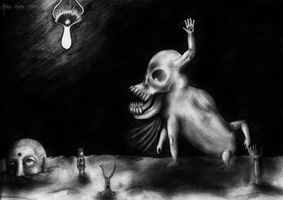 Yume Nikki - The Thing with the Quivering Jaw by Akira-keineHoffnung