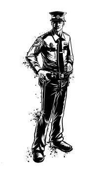 Character Design - Cop by coreylansdell