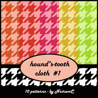 hound's-tooth cloth #1 by NoiramC