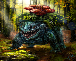 Realistic Venusaur by Ice-wolf-elemental