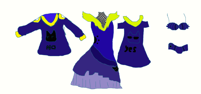 Fujoshi- Chan Outfit line CONCEPT ART by BowtieInu