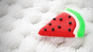 Watermelon Eraser by Shiritsu