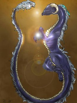 Dragon: The Light Weaver by Aqua2Grey