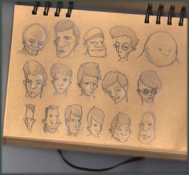 Sketch Faces by dusthead-23
