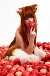 Nude Horo in Apples Spice Wolf by andrewhitc