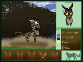 Shrew-Paw(Sacred-Grove-Clans App) by Midnytnytmare90