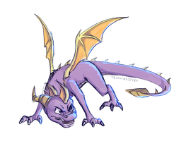 Angry Purple Doodle by IcelectricSpyro