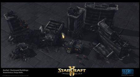 Starcraft II LotV -  Korhal Destruction by thiagoklafke
