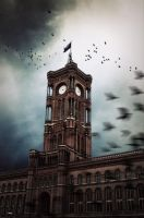 Red tower of the black birds by Chanteur-de-Vent