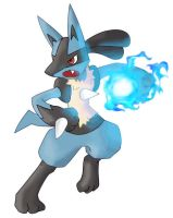 Lucario's Aura Sphere by TheBlueFlames