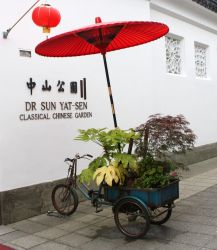 Florsit's Tricycle in China Town by GreenEyezz-stock
