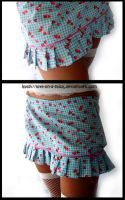 Strawberry skirt by love-on-a-stick