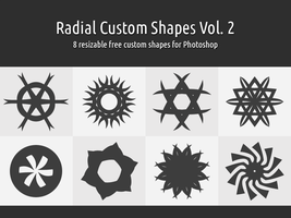 Radial Custom Shapes Vol. 2 by xara24