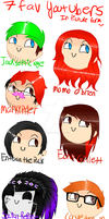 7 Fav Youtubers by SilverMelody13