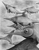 Ophthalmosaurus by jorgearagon
