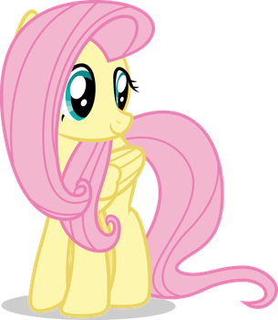 Mlp Fim Fluttershy (happy) vector #4 by luckreza8