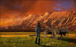 Old West Sunset by MichaelAtman