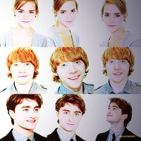 Hermione, ron and harry by whenlovetakesover