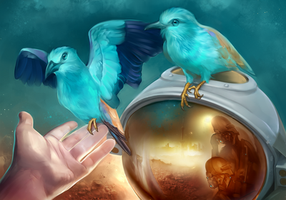 Blue birds by Static-ghost