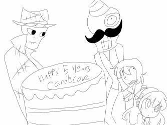 Happy five years candle cove by sylviathecrazygirl