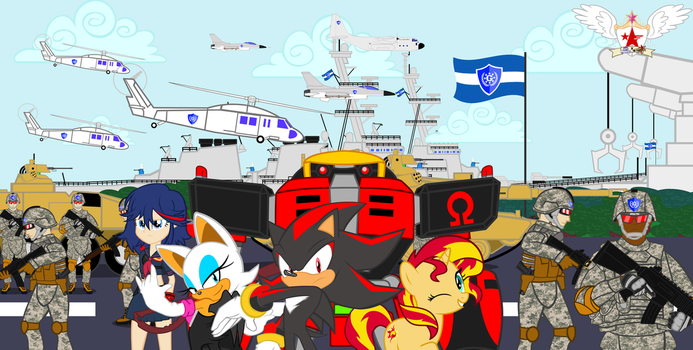 Sonic Forces and MLP Movie : The Great Army by trungtranhaitrung