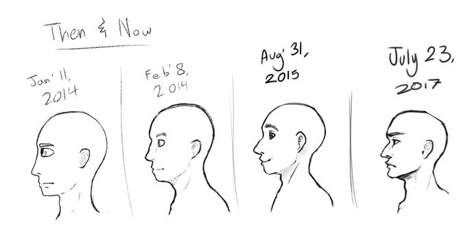 Then and now - Profiles 2017 by TheSilverPie