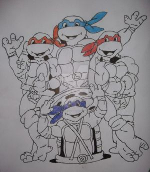My TMNT Drawing: Completed
