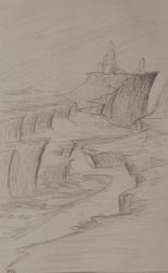 Sketch: Winding Cliffs by TylersArtShack