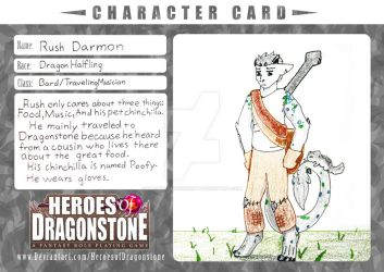 Rush Darmon Character Card (Old Version!) by DragonCatSongArt