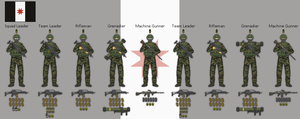 Federation of Lukany - Infantry Squad by hydraulicoilman