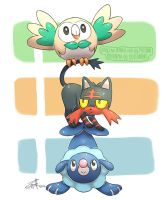 Alola Starters Totem by mother-child