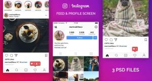 FREE Instagram PSD UI 2017 by MarinaD